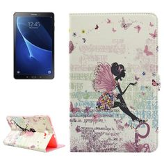 For+Tab+A+10.1/T580+Fairy+Pattern+Diamond+Encrusted+Leather+Case+with+Holder