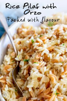This stovetop Turkish rice pilaf with Orzo is the perfect side dish for so many meal. It's easy to make at home and tastes far better than rice from a box Side Dishes For Salmon, Steak Side Dishes, Side Dishes For Chicken, Rice Side Dishes, Dinner Side Dishes, Best Side Dishes, Pasta Dishes, Food Dishes, Rice Pilaf With Orzo