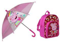 Peppa Pig Backpack and Umbrella Set Kids Umbrellas, Peppa Pig, Little Ones, Backpacks, Backpack, Backpacker, Backpacking, Toddlers