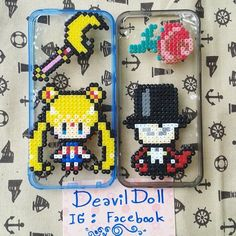 Sailor Moon case cover perler beads by deavildoll