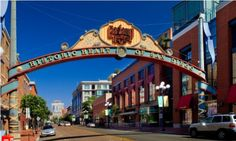 A guide to downtown San Diego's Gaslamp Quarter, including dining, shopping, entertainment, services, events, lodging, and history.