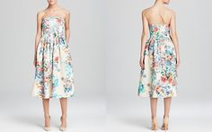 Cynthia Rowley Dress - Strapless Floral Jacquard Tea-Length    Bloomingdales $653 CA !