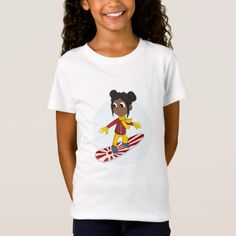 #Snowboarding girl cartoon T-shirt - #giftideas for #kids #babies #children #gifts #giftidea