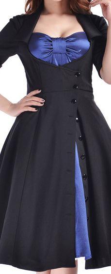 38 Inspiring Plus Size Halloween Wedding Dress Ideas - VIs-Wed Curvy Fashion, Plus Size Fashion, Girl Fashion, Fashion Design, Fashion Outfits, Rockabilly Outfits, Rockabilly Fashion, Rockabilly Style, Plus Size Vintage Dresses