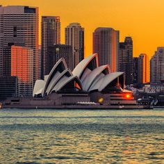 Sunset #Sydney Opera House  #Australia byArchecture around the world has many shining examples this is one?)