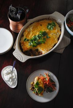 Cheesy Beef Tamale Pie  #recipes #mexicanfood #latindishes #tamales