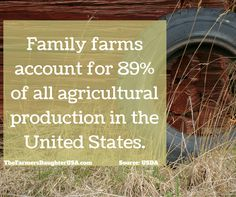 The United States Department of Agriculture has released some updated data on family farms in the country. According to the report, family farms account for 99% of all farms. Those farms account for 89% of the agricultural production in 2015!  You can read more about the report here. Like what you read?