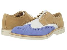 Sperry Top-Sider Gold Ox Wingtip w/ASV Sky Blue/ Ivory/Tan - Zappos.com Free Shipping BOTH Ways