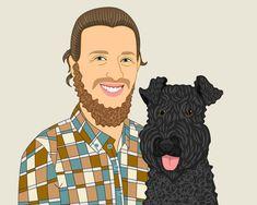 Custom portrait Illustration personalized drawing #pets @EtsyMktgTool http://etsy.me/2y9USDc #customportrait #customillustration