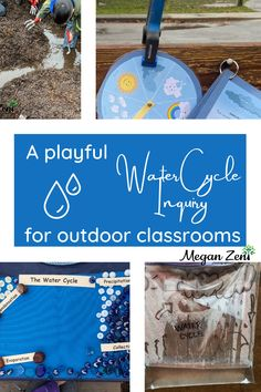 As a start, water cycles are best experienced, rather than read about. There is no worksheet that can fully capture the water cycle phenomenon, like being out in the rain in your community can. Encourage your class to dress like a scientist, and gear up for outdoor learning when you are starting your water cycle inquiry. This post is full of playful ways to engage in water cycle learning. #outdoorclassroom #outdoored #watercycle #outdoorlearning Outdoor Education, Outdoor Learning, Outdoor School, Outdoor Classroom, Classroom Activities, Classroom Organization, Water Cycle, Forest School, Teaching Tips
