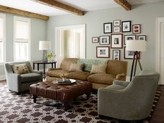 New Traditional Family Residence - traditional - living room - chicago - Molly Quinn Design