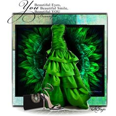 """Glamorous in Green"" by kginger on Polyvore"