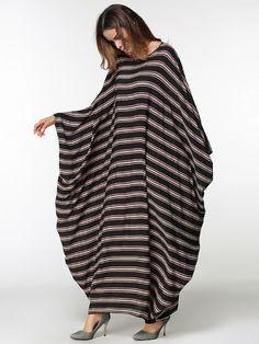 Повседневное Для женщин Абаи Макси платье в полоску Свободные Стиль рукав «летучая мышь» плюс Размеры мусульманский Ближний Восток длинный халат Рамадан арабских Мусульманская одежда купить на AliExpress