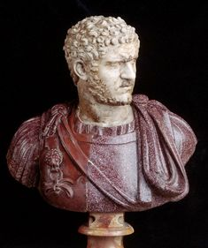 Imperial Roman Bust of Emperor Caracalla, 22nd Emperor of the Roman Empire  211 A.D.