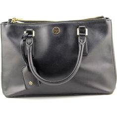 Tory-Burch-Robinson-Mini-Double-Zip-Tote-Women-Black-Tote-Pre-Owned-1716