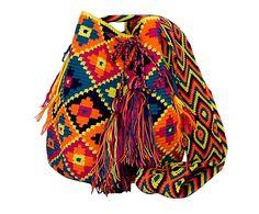 Bolso Wayuu tejido a mano de algodón y fibra Emelinda