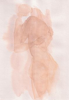 I love these minimalist watercolor portraits by French artist François Henri-Galland. The simplicity of these amorphous images adds a unique weight to their story, proving that thorough detail is not the only mode in which to convey a poignant message. Figure Drawing, Painting & Drawing, Illustration Art, Illustrations, Art Inspo, Watercolor Paintings, Watercolor Portraits, Modern Art, Cool Art