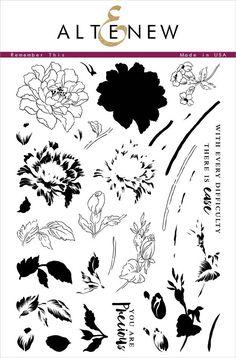 """Remember This"" Stamp Set   #Altenew (8.13.16)"