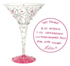 """My Tiara"" 7oz. Tini glass"