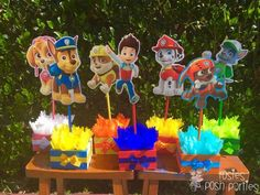 Paw Patrol Centerpieces for Birthday Candy by RosiesPoshParties