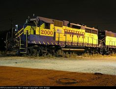 FWWR 2000   Description:    Photo Date:  7/21/2003  Location:  Fort Worth, TX   Author:  John Briggs  Categories:    Locomotives:  FWWR 2000(GP38-3)