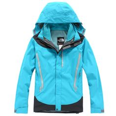 Women North Face Outlet Gore Tex Jacket Cyan Blue