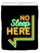 No sleep here, bed,neon,neons, light, lights, city, night,sleep, cover, arrow,