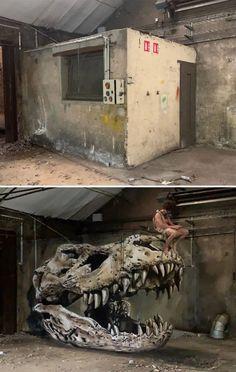 50 grafitis increíbles con ilusiones 3D por Scaf - Marcianos 3d Street Art, Murals Street Art, Street Artists, Graffiti Art, Street Art Graffiti, Art Français, 3d Art, 3d Wall Art, French Street