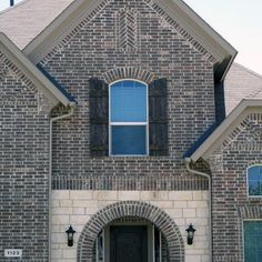 Top 50 Best Brick And Stone Exterior Ideas - Cladding Designs Grey Brick Houses, Stone Exterior Houses, Exterior House Colors, Stone Houses, Exterior Design, Brick Exteriors, Exterior Homes, House Exteriors, Exterior Paint