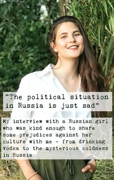 In this interview a talked to a Russian girl about her cultural background and the prejudices she is confronted with talking to people from different countries - find out what she had to say! Cultural Diversity, Countries, Interview, Sad, Politics, Culture, Sayings, People, Lyrics