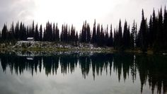 Mount Revelstoke National Park, British Columbia, Canada — by AdventureJ. View of the beautiful Eva Lake at the top of Mt Revelstoke just after a snow flurry. Read more about hiking here at...