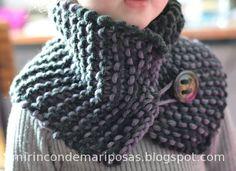Cuello de ganchillo Diy Crochet And Knitting, Tunisian Crochet, Baby Knitting, Crochet Baby, Short Scarves, Knitting Patterns, Crochet Patterns, Knitted Shawls, Knitwear