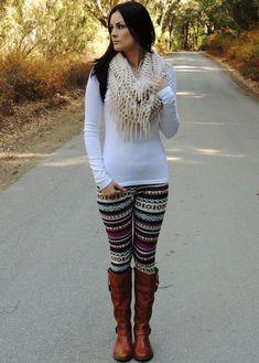 How to style Ethnic Print Leggings