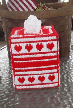Valentine's Day Tissue Box Cover by TissueMart on Etsy, $18.00