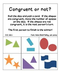 This song helps students understand congruent shapes. The songs ...