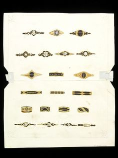 Design for mourning rings | Firm of John Brogden, ca. 1860's