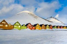 The coal-mining town in Norway's Svalbard archipelago is best known for its majestic views of the No... - Shutterstock