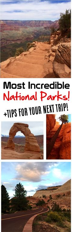 National Parks!  Top bucket list travel destinations for your USA road trip!