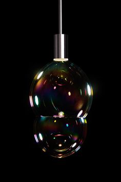 A lamp that blows bubbles! Possibly the best thing invented ever. By Front Design Photo via Design Milk