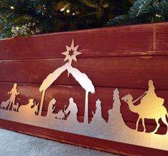 Items similar to Nativity Scene Metal Art, Christmas Decoration on Etsy Cute Crafts, Diy And Crafts, Crafts For Kids, Christmas Nativity Set, Christmas Ornaments, Metal Art, Rusted Metal, Christmas Decorations, Holiday Decor