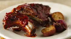 Slow-Cooker Barbecued Baby Back Ribs recipe from Betty Crocker