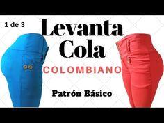 Pantalón Levanta Cola Colombiano Trazo Pretina Anatómica - YouTube Sewing Clothes, Diy Clothes, Techno, Jeans, Leggings, Tips, Youtube, Outfits, Dress Template