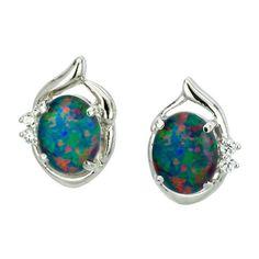 AUSTRALIA OPAL - Opal Earrings (E3300SB), $205.00 (http://www.australiaopal.com.au/opal-earrings-e3300sb/)