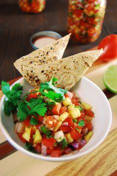 Fresh Pineapple Salsa #healthy #spicy