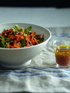 Carrot salad with mint and dates. This is an easy and healthy salad for any dinner