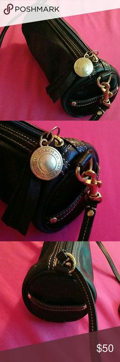 Coach small cylindrical crossbody bag Authentic.  Excellent condition.  No dustbag. Coach Bags Crossbody Bags