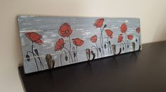 Key holder vintage style with poppies #vintage #poppies