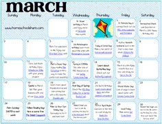 March Making the Days Count Activity Calendar