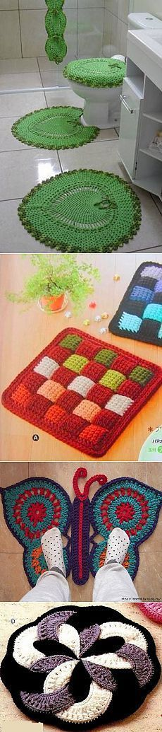 5 beautiful rugs for the house - knit crochet!