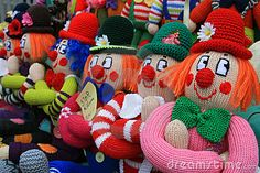 knitted puppets